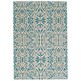 "Grand Bazaar Arsene Turquoise Geometric Transitional Area Rug - 7'10"" x 11'"