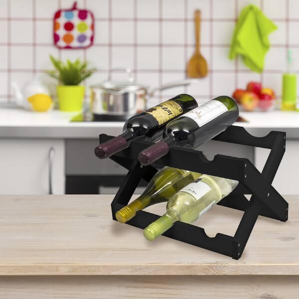 Sorbus Foldable Countertop Wine Rack 6 Bottles Overstock 14404170