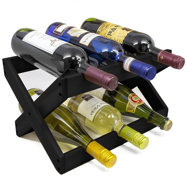 Sorbus Foldable Countertop Wine Rack 6-bottles