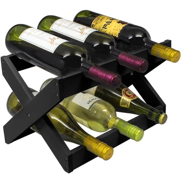 12 Bottles Free Standing Wine Storage Rack Tabletop Wine Rack Bamboo 12 Bottles 2-Tier Wine Display Rack for Countertop Home Kitchen Pantry COSTWAY Wine Rack