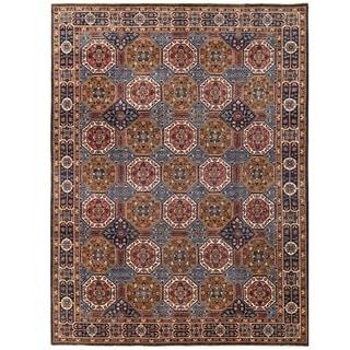 Herat Oriental Afghan Hand-knotted Vegetable Dye Khotan Wool Rug (8'10 x 11'10)