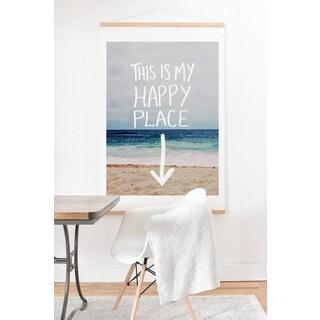 Leah Flores 'Happy Place X Beach' Art Print and Hanger