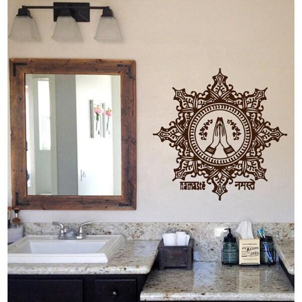 Shop Lotus Indian Pattern Floral Design Amulet Yoga Decor Namaste