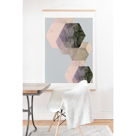 Emanuela Carratoni 'Marble Geometry' Art Print and Hanger