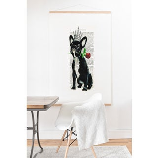 Coco De Paris 'Frenchie with Flower' Art Print and Hanger