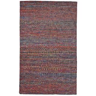 Grand Bazaar Cherry Jute, Cotton and Viscose Handknotted Samarra Rug (7'9 x 9'9)
