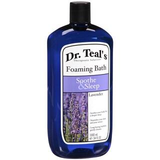 Dr. Teal's 34-ounce Foaming Bath with Pure Epsom Salt, Soothe & Sleep with Lavender