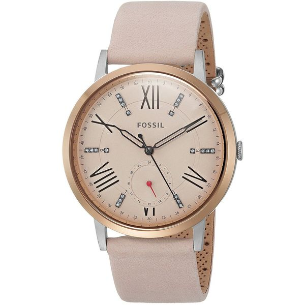 21df310b5c48 Shop Fossil Women s ES4163 Gazer Multi-Function Pink Dial Blush Leather  Watch - Free Shipping Today - Overstock - 14404417