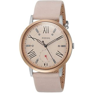 Fossil Women's ES4163 Gazer Multi-Function Pink Dial Blush Leather Watch