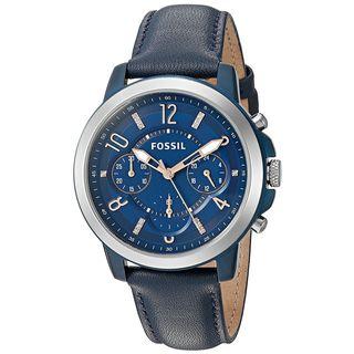Fossil Women's ES4131 Gwynn Chronograph Blue Dial Blue Leather Watch