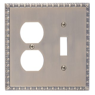 Egg and Dart Double 1-Switch/ 1-Outlet