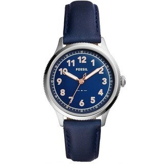 Fossil Women's ES4130 Avondale Blue Dial Blue Leather Watch