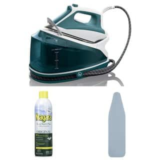 Rowenta DG7530 Compact Steam Station + Free Ironing Board and Starch Spray|https://ak1.ostkcdn.com/images/products/14404581/P20974056.jpg?impolicy=medium