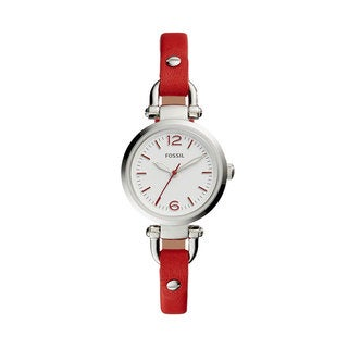 Fossil Women's ES4119 Georgia Mini White Dial Red Leather Watch