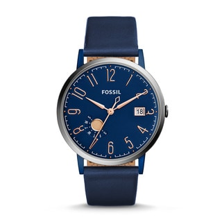 Fossil Women's ES4107 Vintage Muse Blue Dial Blue Leather Watch