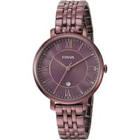 Fossil Women's ES4100 Jacqueline Wine Dial Wine Stainless Steel Bracelet Watch