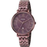 Fossil Women's ES4100 Jacqueline Wine Dial Wine Stainless Steel Bracelet Watch