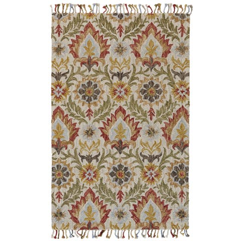 Grand Bazaar Calendra Golden Olive Area Rug - 8' x 11'