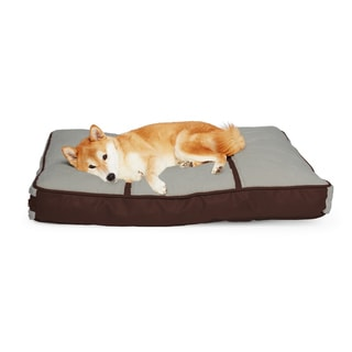 Sherpa Faux Leather Trim Pet Pillow Bed