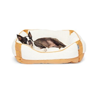Precious Tails Orthopedic Ultra Plush Sherpa Rectangular Pet Bed Cuddler