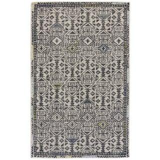Grand Bazaar Black / Line Tufted Dimat Rug (8' x 11')