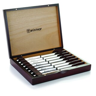 Wusthof Stainless Steel Steak Knife Set with Wooden Gift Box (Pack of 8)
