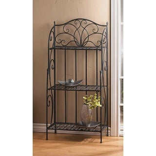 Scrolling Iron 3-Tier Rack