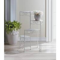Cypress White 4 Pie-Shaped Plant Shelves
