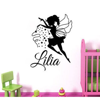 Tinkerbell Fairy Girl Personalized Name Magic Dust Art Mural Vinyl Decal Sticker Decor Sticker Decal