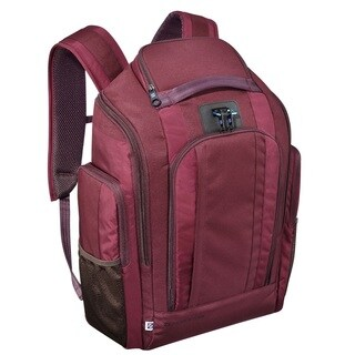 Zero Halliburton New York Red Nylon Organizer Backpack