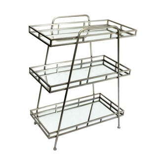 Sagebrook Home-3 Tiered Metal & Glass Tray Stand