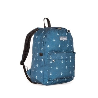 Everest Blue Anchor Pattern 16.5-inch Backpack