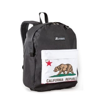 Everest California Bear Multicolored 16.5-inch Backpack
