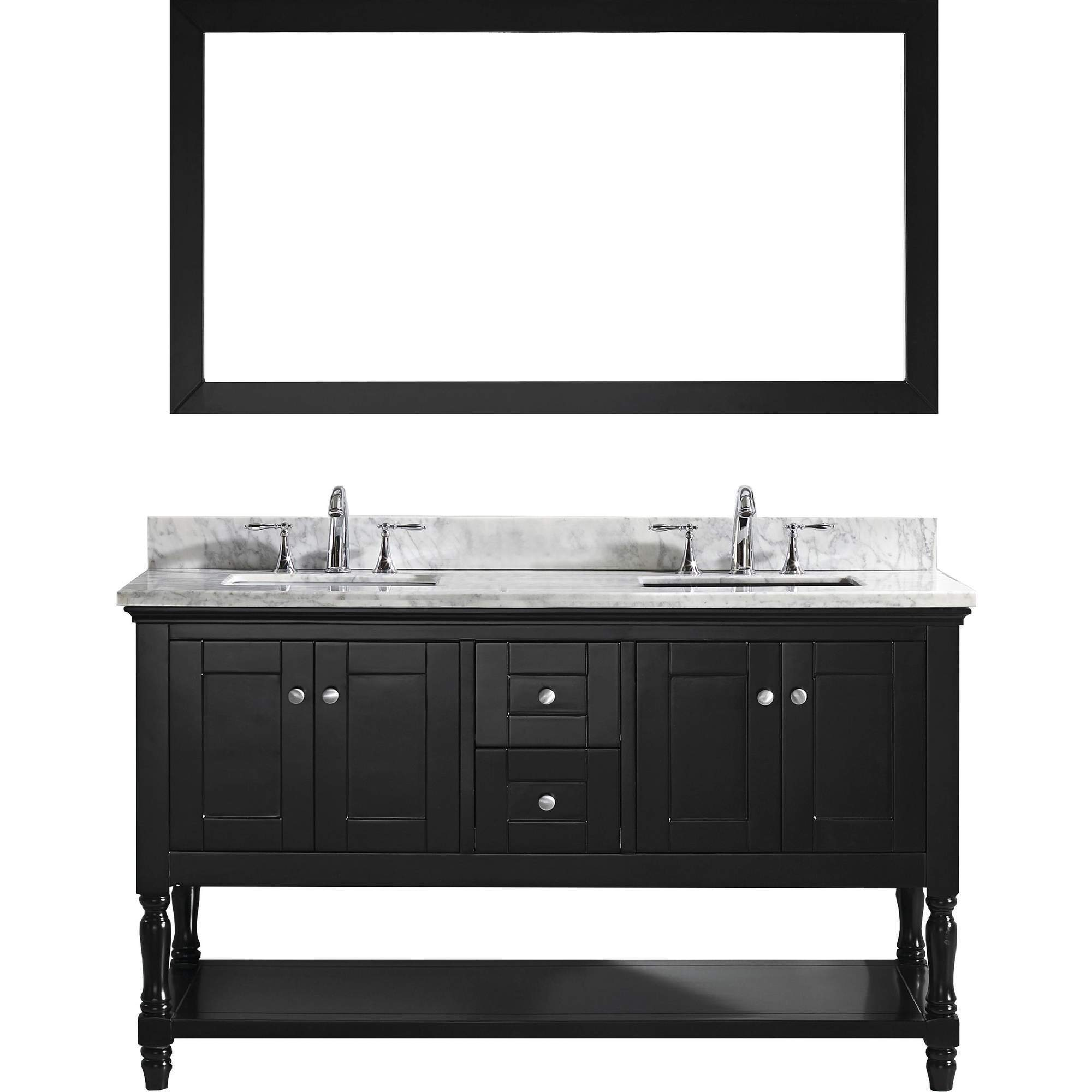 Julianna 60 Inch Single Vanity White Marble Top