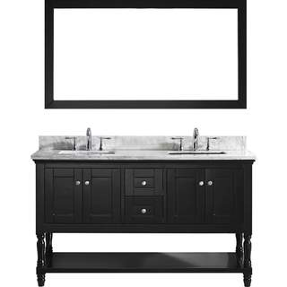 Link to Julianna 60-inch Double Vanity White Marble Top Square Sinks Faucets Similar Items in Bathroom Vanities