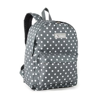 Everest Grey and White 16.5-inch Dot Backpack