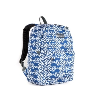Everest Navy and White 16.5-inch Ikat Backpack