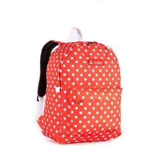 Everest Tangerine and White 16.5-inch Dot Backpack