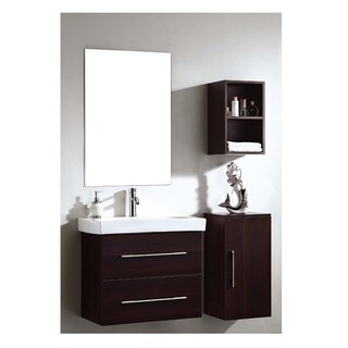 Dawn Vanity Set: Sink Top, Cabinet, Side Cabinet, Side Cabinet & Mirror