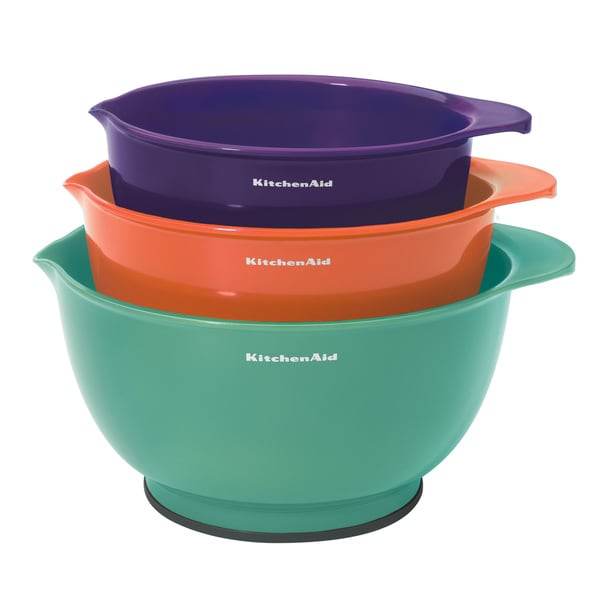Shop Kitchenaid Tropical Colors Plastic Mixing Bowls Pack