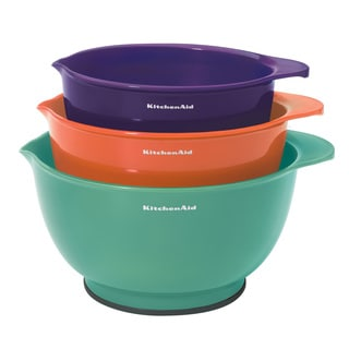 KitchenAid Tropical Colors Plastic Mixing Bowls (Pack of 3)