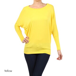 Women's Solid Dolman Sleeve Tunic (More options available)