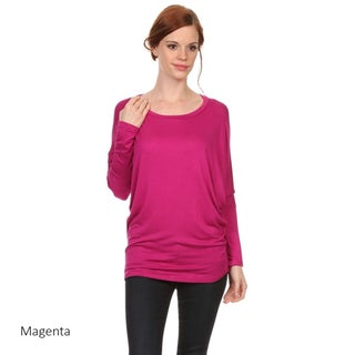 Women's Solid Dolman Sleeve Tunic (4 options available)