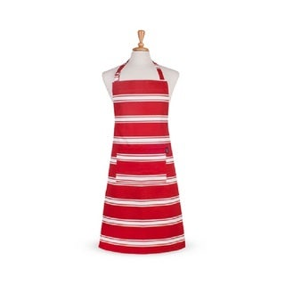 Butcher Stripe Red Cotton Apron