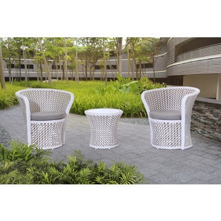 Sunjoy Salima Q Aluminum and Resin Wicker Bistro Set