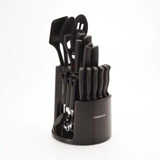 Farberware 30-piece Spin N Store Black Plastic Caddy