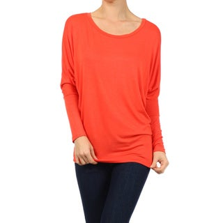 Link to Women's Rayon and Spandex Solid Dolman Sleeve Tunic Similar Items in Tops