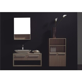 Grazia 2 Piece vanity Set in Gray Oak