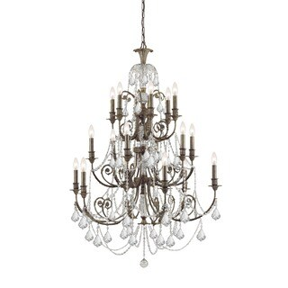 Crystorama Regis Collection 18-light English Bronze/Crystal Chandelier