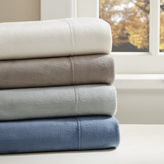 True North by Sleep Philosophy Liquid Velvet Fleece Solid Sheet Set 4 Color Option